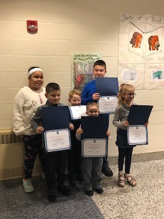 Elementary Students Recognized at Board Meeting