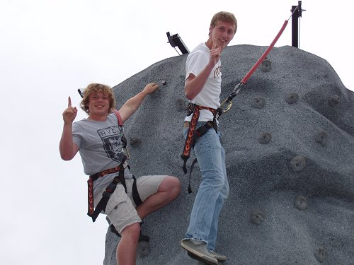 Mike T. & Kyle K. Rock Climbing in PE